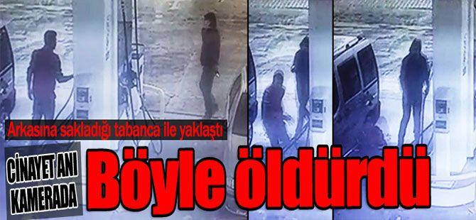 Benzin istasyonundaki cinayet güvenlik kamerasında