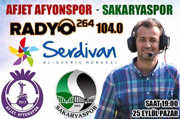 Afjet Afyonspor-Sakaryaspor maçı canlı yayınlanacak
