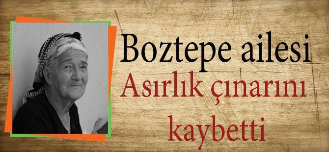 Boztepe ailesi asırlık çınarını kaybetti