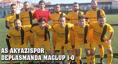 As Akyazıspor deplasmanda mağlup 1-0