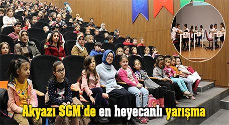 Akyazı SGM'de en heyecanlı yarışma