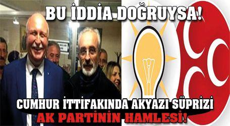 Cumhur ittifakında Akyazı sürprizi ve AK Parti hamlesi!