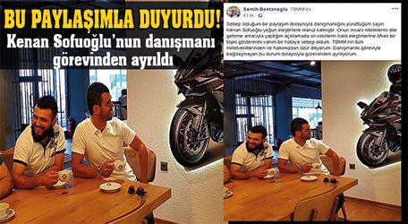 Kenan Sofuoğlu'nun danışmanı görevinden ayrıldı