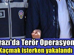 Terör suçundan aranıyordu kaçmaya çalışırken yakalandı