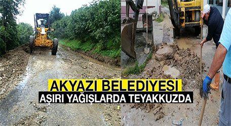 Akyazı Belediyesi aşırı yağışlarda teyakkuzda
