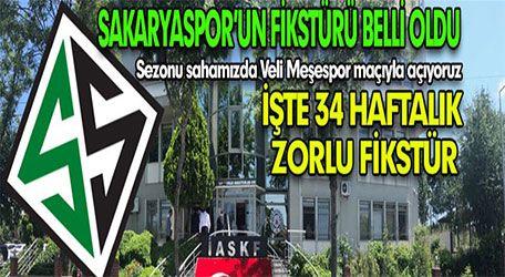 İşte Sakaryaspor'un 2019-2020 Sezon Fikstürü