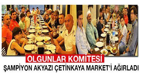 Olgunlar Komitesi Şampiyon Akyazı Çetinkaya Market'i ağırladı.