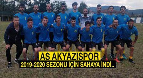As Akyazıspor 2019-2020 sezonu için sahaya indi..