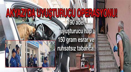 Akyazı'da uyuşturucu operasyonu.. 2 kişi tutuklandı