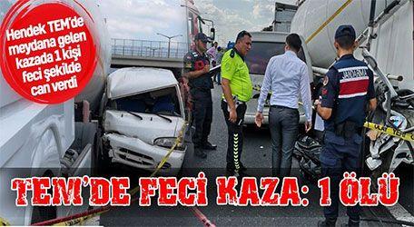 Hendek TEM'de feci kaza: 1 ölü