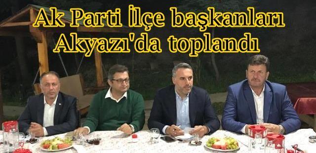 Ak Parti İlçe başkanları Akyazı'da buluştu