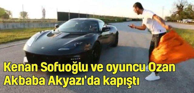 Kenan Sofuoğlu ve oyuncu Ozan Akbaba Akyazı'da pistte kapıştı