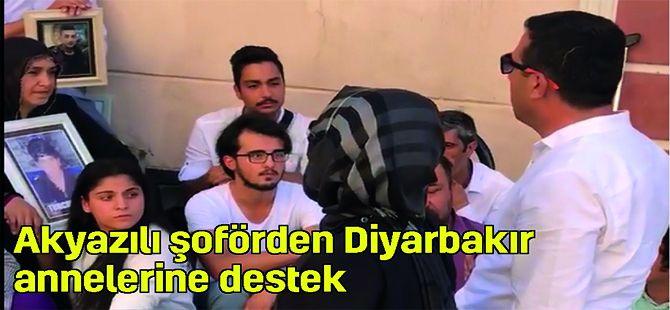Akyazılı şoförden Diyarbakır annelerine destek