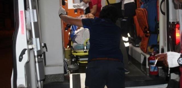 Kendini makineye kaptıran Suriyeli Hastaneye kaldırıldı
