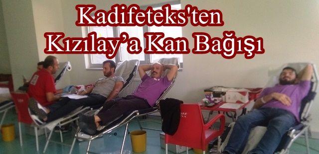 Kadifeteks'ten Kızılay'a Kan Bağışı
