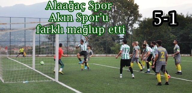 Alaağaç Spor farklı kazandı 5-1