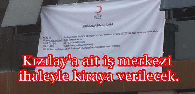Kızılay'a ait iş merkezi ihaleyle kiraya verilecek.