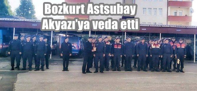 Bozkurt Astsubay Akyazı'ya veda etti
