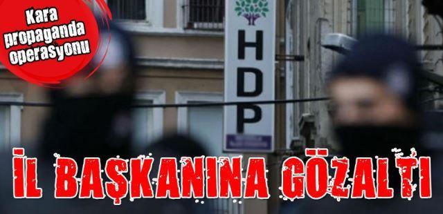 HDP İl Başkanına 'Terör propagandası' gözaltısı