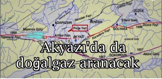 Akyazı'da da doğalgaz aranacak
