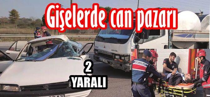 Gişelerde kaza 2 yaralı