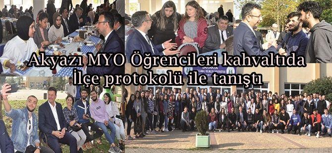 Akyazı MYO Öğrencileri kahvaltıda Akyazı protokolü ile tanıştı