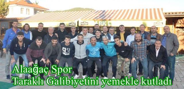 Alaağaç Spor Taraklı Galibiyetini yemekle kutladı