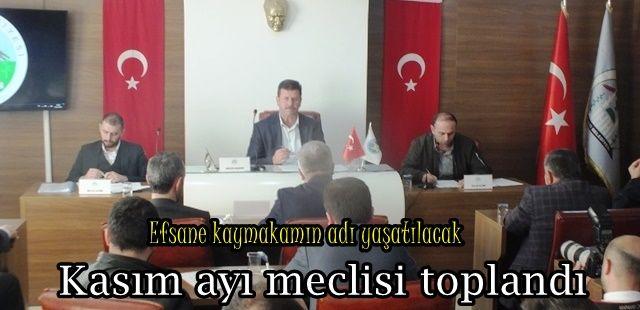 Akyazı belediyesi Kasım ayı meclisi toplandı