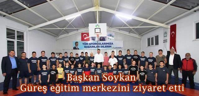 Başkan Soykan güreş eğitim merkezini ziyaret etti