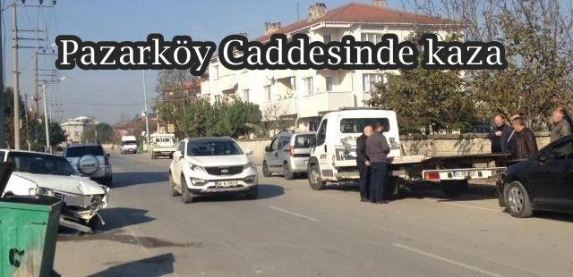 Pazarköy Caddesinde kaza