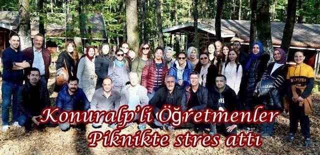 Konuralp'li Öğretmenler Piknikte stres attı