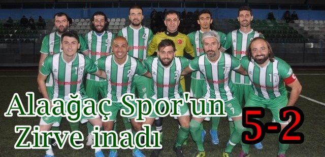 Alaağaç Spor'un zirve inadı.5-2