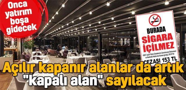 """Sağlık Bakanı açıkladı... Açılır kapanır alanlar da artık """"kapalı alan"""" sayılacak"""