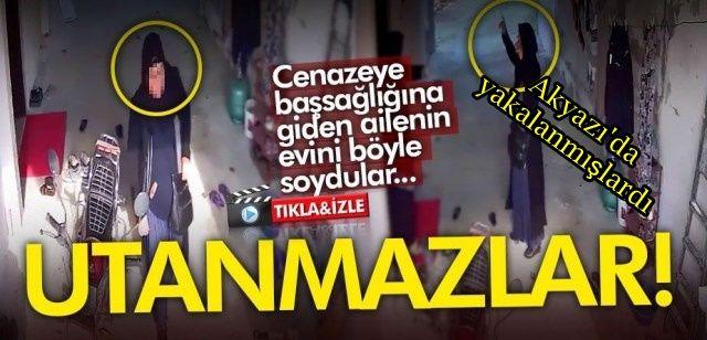 Cenazeye giden ailenin evini soyup Akyazı'da yakalanmışlardı… İşte o hırsızlık anı!