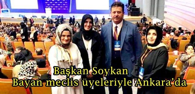 Başkan Soykan bayan meclis üyeleriyle Ankara'da