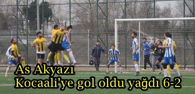 As Akyazı sahasında Kocaali'ye gol oldu yağdı 6-2