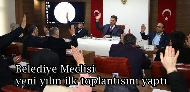 Akyazı Belediye Meclisi yeni yılın ilk toplantısını yaptı