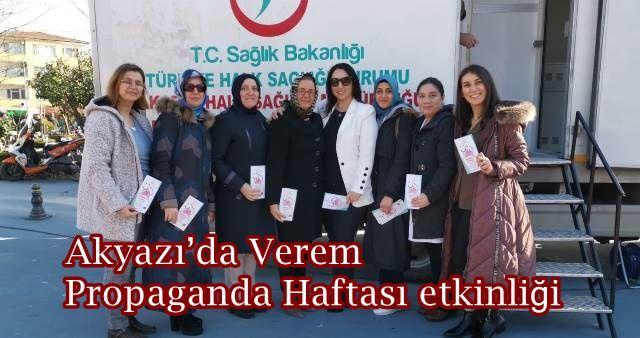 Akyazı'da Verem Propaganda Haftası etkinliği