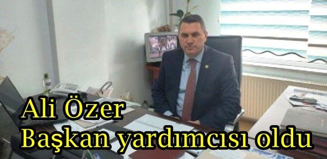 Ali Özer başkan yardımcısı oldu