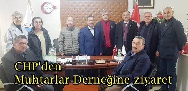 CHP Akyazı teşkilatından Muhtarlar Derneğine ziyaret