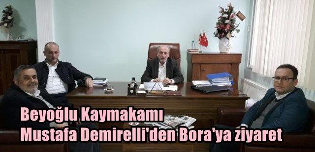 Beyoğlu Kaymakamı Mustafa Demirelli Ak Belde AŞ'yi ziyaret etti