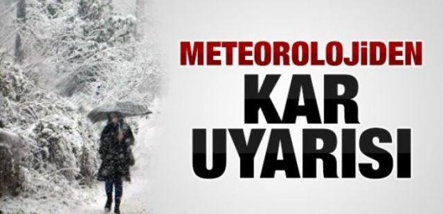 Meteorolojiden uyarı! Bugüne dikkat!