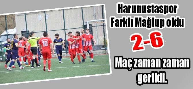 Harunustaspor'a Kendi evinde farklı mağlup oldu. 2-6