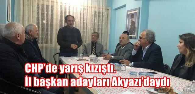 CHP'de yarış kızıştı. İl başkan adayları Akyazı'daydı