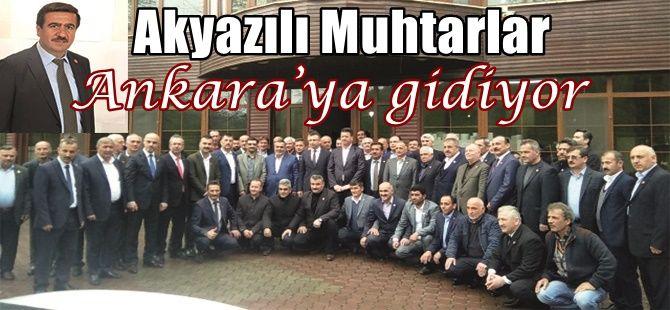 Akyazılı Muhtarlar Ankara'ya gidiyor