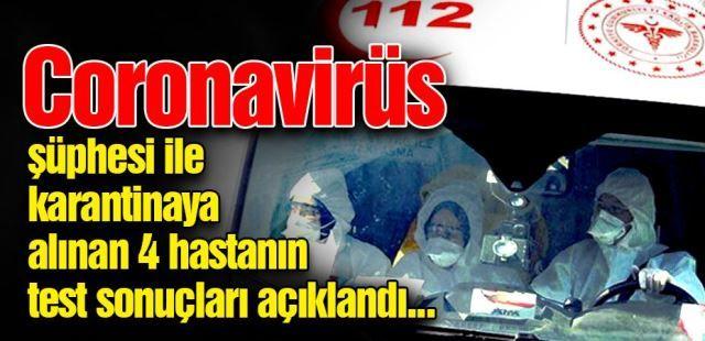 SAÜEAH'ta karantinaya alınan 4 hasta için sonuçlar çıktı