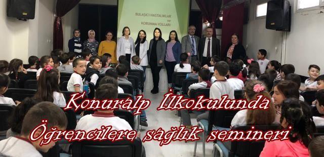 Konuralp İlkokulunda Öğrencilere sağlık semineri