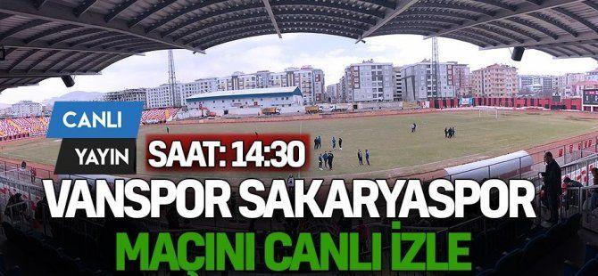 Vanspor Sakaryaspor CANLI İZLE !
