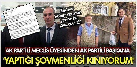 AK Partili meclis üyesi ilçe başkanını şovmenlikle suçladı