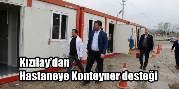 Kızılay'dan Hastaneye Konteyner desteği
